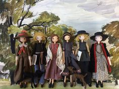 The finished six dolls for Selvedge Magazine, The Bloomsbury Set, what a pleasure to make. Vanessa Bell, Fairy Dolls, Bloomsbury, Doll Clothes, Princess Zelda, Crafty, Creative, Magazine, Anime