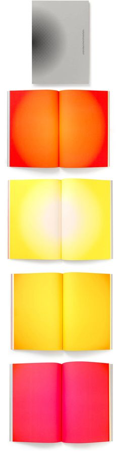 Bright orange, yellow, and hot pink pages stand out against the grey front page. Brighten The Corner — Zumbotel Annual Report