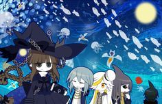 Wadanohara and the Great Blue Sea Fanart Wadanohara, Samekichi, Memoca, Dophi, and Fukami