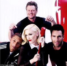 The new team: Gwen Stefani and Pharrell Williams are the latest recruits on NBC's The Voic...