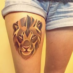 A lion… | The 26 Coolest Animal Tattoos From Russian Artist Sasha Unisex