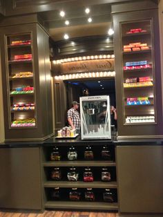 Home Theater Concession Stand. How cute! This would be great for the built in console space.