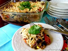 Vegan Southwestern Quinoa Bake--this was delicious and filling.