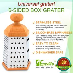 1Easylife 6 Sides Cheese Grater
