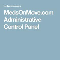 MedsOnMove.com Administrative Control Panel