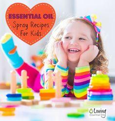 Essential Oil spray bottle recipes: Owie Spray, Bed Bug Spray, Diaper Rash Spray, Head Lice Prevention. DIY, use doTerra, Young Living oils, or your favorite brand