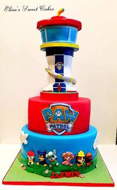 Paw Patrol Cake, All edible and hand made. Bolo Do Paw Patrol, Torta Paw Patrol, Toddler Birthday Cakes, Special Birthday Cakes, Paw Patrol Birthday Cake, Paw Patrol Party, Pastel Paw Patrol, Barney Birthday, Paw Patrol Decorations