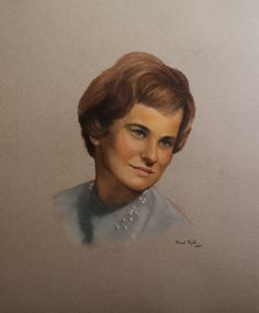 pastel portrait from old black/white photo 50x60cm