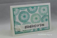 Stampin up sale a bration petal parade card I made. Love this set !!