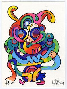 December 2015 works | Jon Burgerman Smurfs, Disney Characters, Fictional Characters, It Works, December, Doodles, Animation, Drawings, Artist
