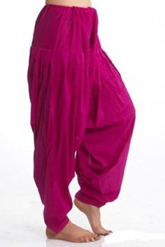 ♣♣♣... #Desiclik offers this simple yet stylish drawstring Harem / #Fuschia Patiala Pants made of #cotton. This pants comes with a matching Chiffon dupatta...♣♣♣