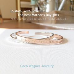 Meaningful Cuff Bracelets for Mothers, Sisters, Friends...etc  Worldwide Shipping. CoCo Wagner Jewelry https://www.etsy.com/shop/cocowagner