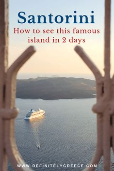 Your complete travel guide to spending 2 absolutely amazing days in Santorini. An island that is bound to leave an unbelievable impression! A spectacular world destination! Amazing Destinations, Holiday Destinations, Mykonos Island, Red Beach, Next Holiday, Thessaloniki, Archipelago, Stunning View, Greece Travel