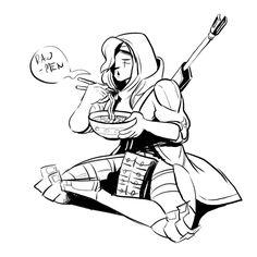 Overwatch- Ana fanart.