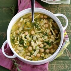Pasta and Chickpea Soup