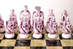 SALE Vintage Soapstone Korean Chess Set & Hinged by LakeandCabin