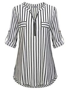# Casual Outfits with flats gingham shirt JCZHWQU Womens Zip Up V Neck Rolled Sleeve Casual Plaid Tunic Shirt Umgestaltete Shirts, Cool Shirts, Plaid Tunic, Tunic Shirt, Tunic Tops, Shirt Dress, Cool Shirt Designs, Blouse Designs, Chic Outfits