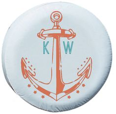 Anchor Spare Tire Cover Initials Monogram by SemiRadical on Etsy, $65.00 @cdbowser; no initials