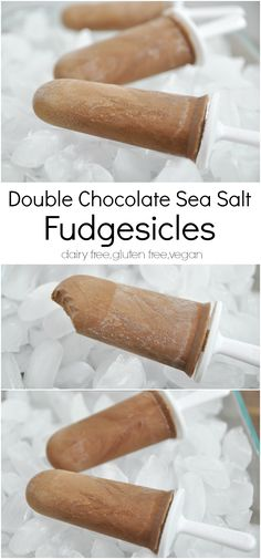 The Sun in the Storm {Recipe: Double Chocolate Sea Salt Fudgesicles *Dairy Free} Dairy Free Recipes, Real Food Recipes, Dessert Recipes, Gluten Free, Fun Recipes, Simple Recipes, Drink Recipes, Vegan Recipes, Healthy Treats