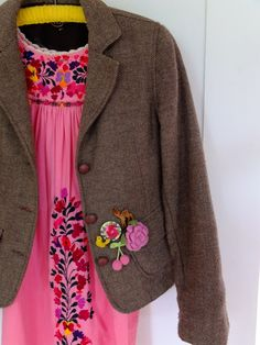 embroidered frock & embellished jacket