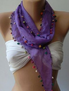 Lilac  Elegance Shawl / ScarfTurkish Shawl by womann on Etsy, $13.90
