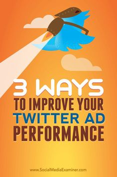 Want a better return on your Twitter ads?  By adjusting your ad bidding and targeting, you can deliver affordable and appealing ads on Twitter.  In this article, youll discover three ways to improve your Twitter ad performance. Via @smexaminer.