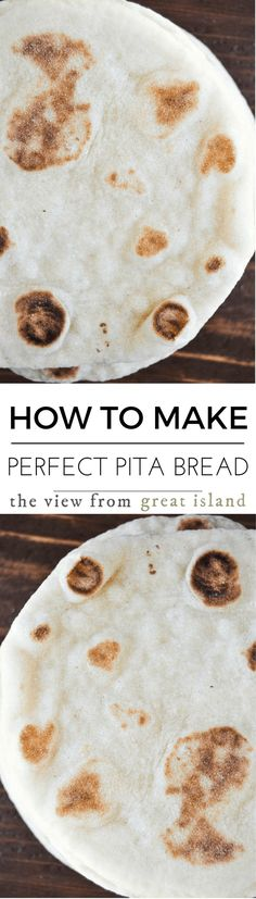 How to Make Perfect Homemade Pita Bread Every Time ~ Middle Eastern flatbread is easier to make than you think ~ never go back to the stuff in bags again. Bread Recipes, Vegan Recipes, Cooking Recipes, Homemade Pita Bread, Homemade Recipe, Scones, Croissants, Middle Eastern Recipes, Easy Bread