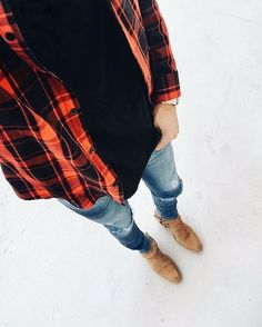 Check checks shirt | Chelsea boots | UCB jeans // #fashion #style #mensfashion #workout #casual #outdoor #wear #outfit