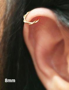 Earrings, Cartilage Earrings, Twisted Ear cuff,Boho Jewelry,Fake Conch piercing,Conch piercing, Ear Jacket,