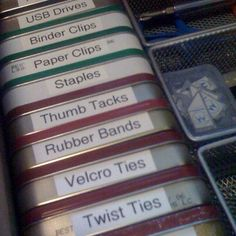 Altoids tins--I've got a ton of these tins and have been looking for something useful to do with them... why didn't I think of this??? SMH