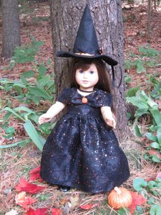 """18"""" Doll Clothes Princess Witchy will fit dolls such as American Girl Dolls or other 18"""" dolls with similar build Halloween handmade USA by DreamyDoll on Etsy"""