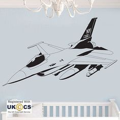 #Aeroplane jet cool army boys #bedroom wall art stickers #decals vinyl home room ,  View more on the LINK: http://www.zeppy.io/product/gb/2/301875041870/