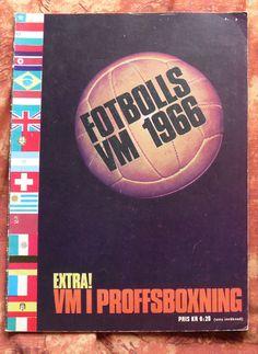 FOTBOLLS VM 1966 (Rare SWEDISH Magazine) WORLD CUP 1966