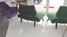 1stdibs.com | Pair of Grosfeld House Hollywood Regency Slipper Chairs