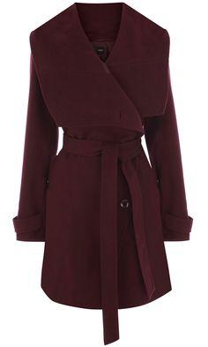 Oasis Burgundy Coat.