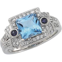 Genuine Swiss Blue Topaz, Genuine Iolite