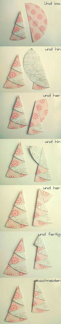 Scrapbox: folding fir trees - a little tutorial by Maria mariasscrapbox . - Scrapbox: Folding Christmas trees – a little tutorial from Maria mariasscrapbox. Christmas Art, Christmas Projects, Winter Christmas, Handmade Christmas, Christmas Decorations, Christmas Ornaments, Diy And Crafts, Crafts For Kids, Diy Y Manualidades