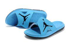 7583cd3e93e3 Nike Air Jordan RCVR Mens Slide Sandals University Blue Black 11 Mens Slide  Sandals