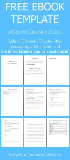 This FREE EBOOK TEMPLATE is exactly what you need to shortcut the agonizing ebook creation process and start selling sooner!