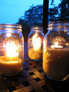Outdoor Mason Jar lights are the perfect way to enjoy the ambiance of a summer night without spending a lot of money!
