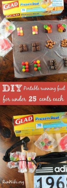 Gels are expensive, and when you are training for a full or half marathon the price adds up, not mention that many gels give runners stomach issues- this DIY homemade Portable running fuel for runners is a great Runner Hack, each packet is only pennies, and you can perfectly measure the calories. For more info on how to fuel properly for a race visit the site. Running motivation