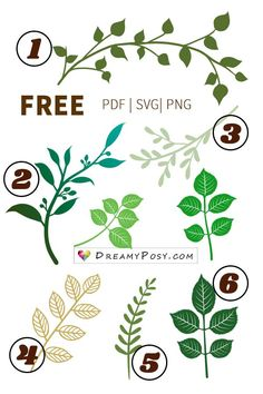 Leaves template, branch template, FREE PDF, SVG, PNG files I know leaves template is very important to all crafters who make paper flowers. So here is a collection of free leaves template and branch template. Paper Flowers Craft, Giant Paper Flowers, Flower Crafts, Diy Flowers, Felt Flowers, Paper Crafts, Paper Butterflies, Paper Garlands, Paper Flower Backdrop