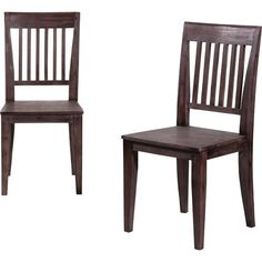 Dark Wood Dining Room Chairs