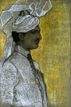 The Nawab Khan (Sir Umar Hayat Khan Tiwana) by Violet Oakley