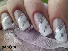 SIlver french by pandora_nails - Nail Art Gallery nailartgallery.nailsmag.com by Nails Magazine www.nailsmag.com #nailart