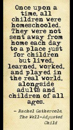 Thank God for homeschooling!