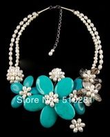 2013 trendy pearl +sem-stone or jade metal clasp all the size be there (free shipping hand making ) natural materails