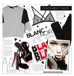 """Make a Statement"" by houseofhauteness ❤ liked on Polyvore featuring ferm LIVING, Jimmy Choo, D'Albert, Fleur du Mal, American Eagle Outfitters, Clutch, blackandwhite, bralet, fishnet and graphicclutch"