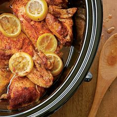 Slow-cooked Barbecued Chicken -     You don't have to wait 'til July to enjoy barbecued chicken. This flavorful dish is made for wintry days. Enjoy this slow-cooked chicken by itself or as a sandwich piled with Pickled Peppers & Onions atop Sweet Potato Cornbread.