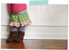 half apron tutorial! baby, kid, and adult sizes